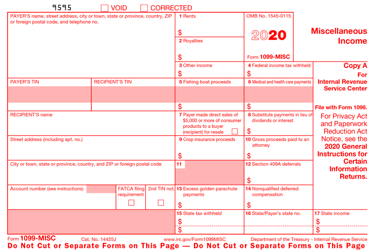 2020 Form 1099-misc