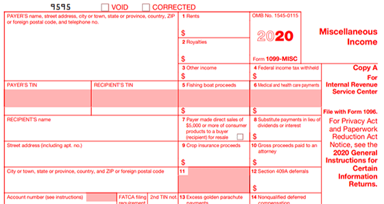 Revised Form 1099-MISC
