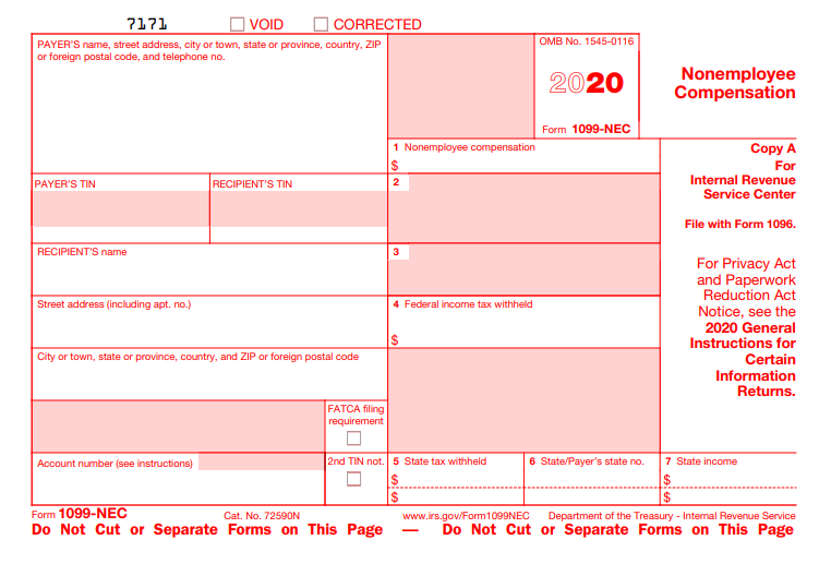 Form 1099-NEC Due Date 2021