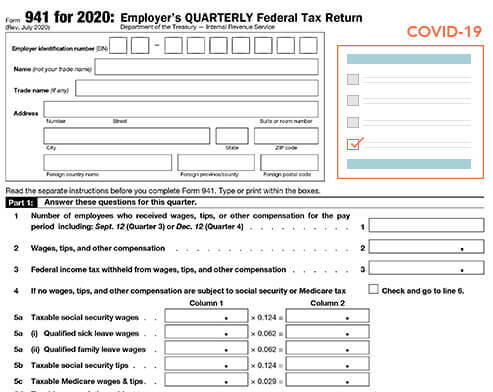 E-File Form 941 Online for 2020