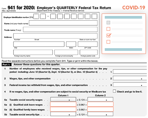 Revised Form 941 for Q3 & Q4, 2020