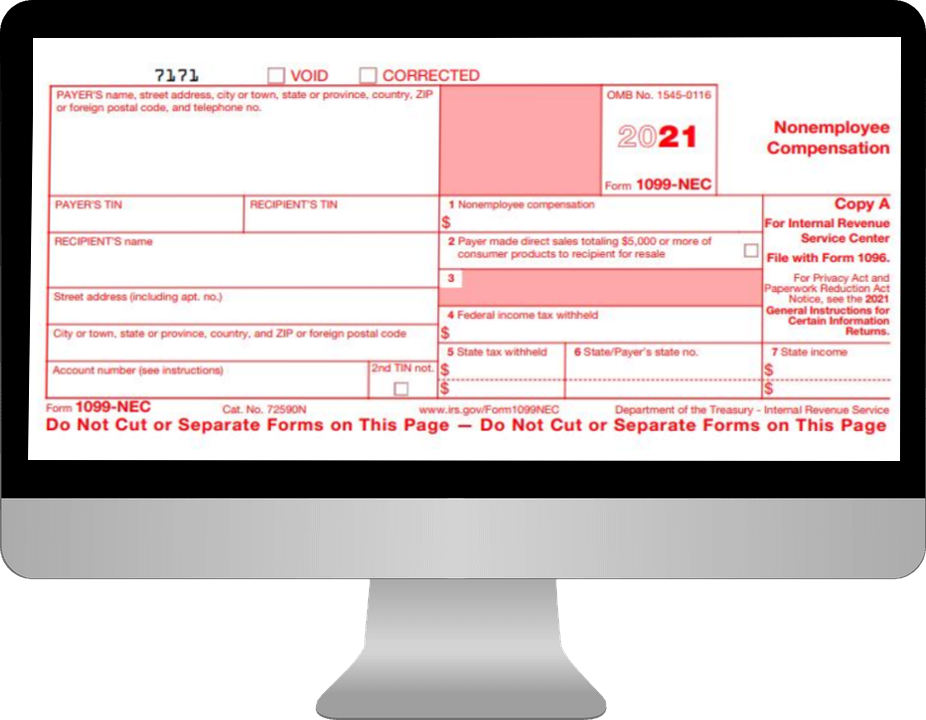 Information Needed to E-File Form 1099-NEC