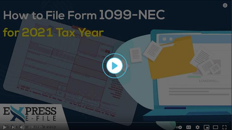 How to File Form 1099-NEC for 2020 tax year